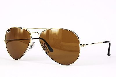 Ray Ban Sonnenbrille / Sunglasses RB3025 AVIATOR LARGE METAL 001/33 62[]14 Etui