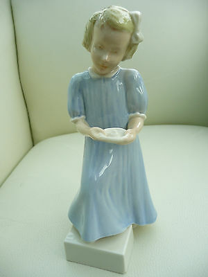 Rare and exquisite Branksome China figurine of a girl going upstairs to bed