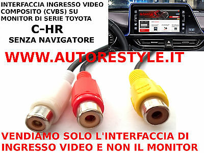 Interfaccia Di Ingresso Video Composito Rca Su Monitor Di Serie Toyota C-Hr Chr