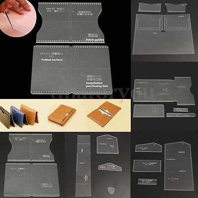 8 Types DIY Acrylic Leather Template Kit for Wallet Leathercraft Leather Pattern