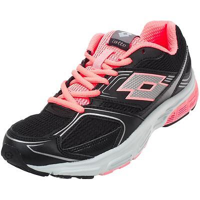 Chaussures running Lotto Zenith w nr/rose Noir 33853 - Neuf
