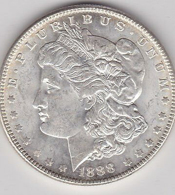 Usa 1888 Silver Morgan Dollar In Extremely Fine Or Slightly Better Condition