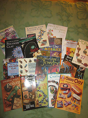 Wholesale Lot Of 17 Polymer Clay Books,mint
