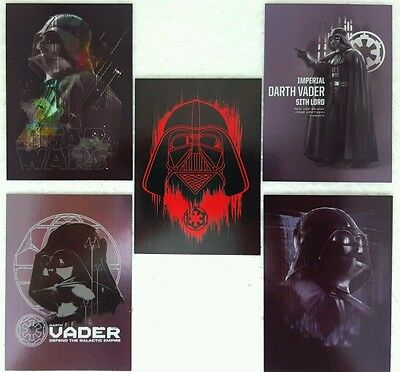 STAR WARS Rogue One VADER Card Set of 5 topps SERIES 1 # 6 - 10  Continuation