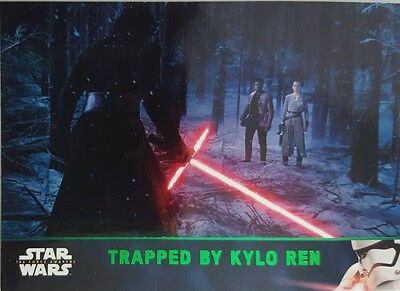 Star Wars FORCE AWAKENS Series 2 GREEN PARALLEL TRADING CARD SET  of 100 topps