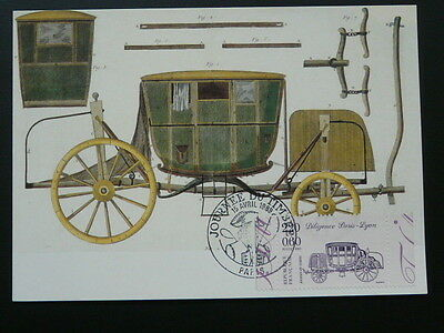 postal history mail coach horse stagecoach maximum card 1989