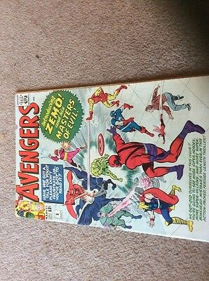 Avengers #6 First Masters Of Evil, First Baron Zemo , New Captain America Shield