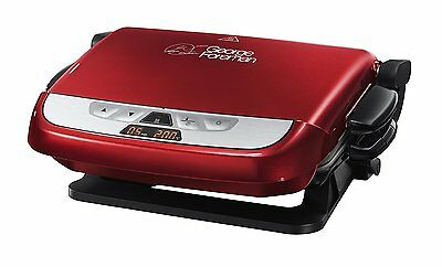 George Foreman 21611 Evolve Family 5 Portion Grill With Omlette Plates - Red