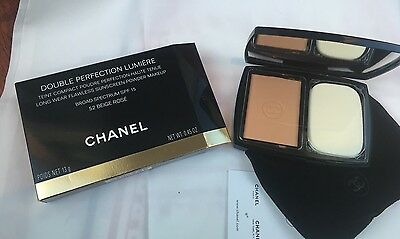 Double Perfection Lumiereteint Compact Chanel Neuf N 52 Beige Rose