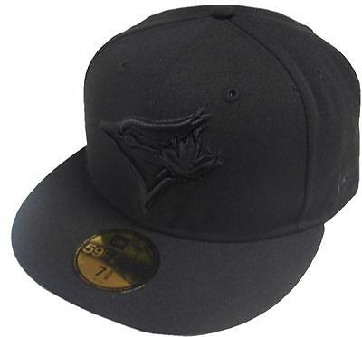 New Era Toronto Blue Jays Black On Black 59fifty Fitted Cap Limited Edition Mens