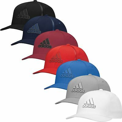 Adidas TaylorMade 2017 Tour Delta Flex-Fit Textured Hat Mens Stretch Golf Cap
