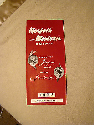 Norfolk and Western - Timetable - Oct. 25, 1959
