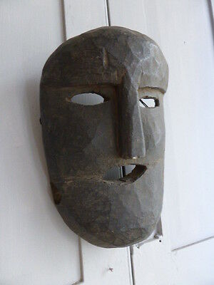 Antique Polynesian wooden hand carved mask wall decor no 2