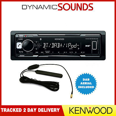 Kenwood KMM-BT502DAB Mechless Media Receiver USB iPod Built-In Bluetooth & DAB