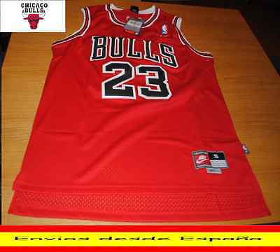 Camiseta Nba Retro  Chicago  Jordan  Bulls  N.23  Talla (S) Color Rojo.