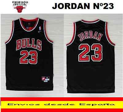 Camiseta Nba Retro  Chicago Bulls Jordan  N.23  Talla (S) Color Negro.