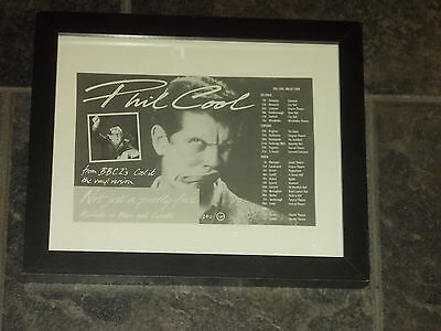 Phil Cool-1987 UK Tour-Original advert framed