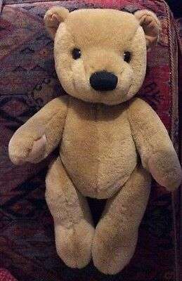 """15"""" Merrythought Jointed Cream Teddy Bear No Labels for Cat Protection Charity"""