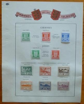 CHANNEL ISLANDS. x 11. diff 1940's stamps - mint.