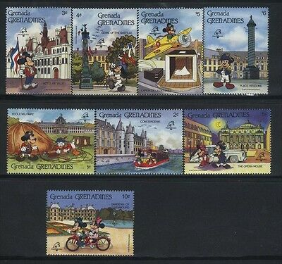 Grenada-Grenadines MNH Sc 1057-64 Disney Value $ 15.50