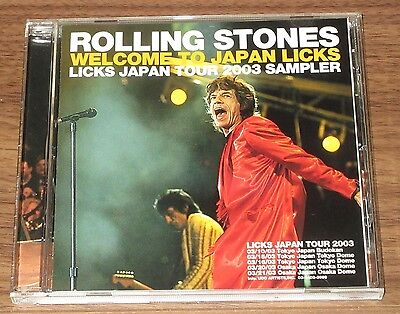 The ROLLING STONES Japan PROMO ONLY CD Licks Tour Sampler 10 tracks MORE LISTED