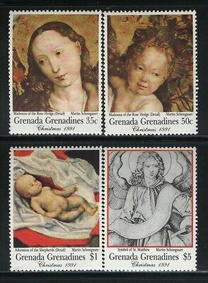 Grenada-Grenadines MNH Sc 1360,61,62,64 Paintings