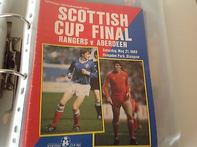Rare Scottish  Cup Final 1983 Aberdeen V Rangers