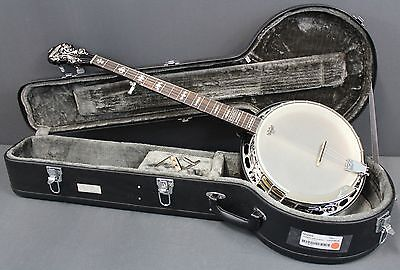 Fender Concert Tone 58 Banjo With a Rolled Brass Tone Ring & Fender HSC