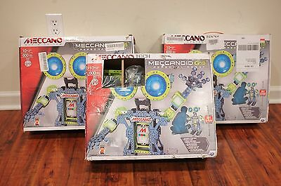 2 Meccano Meccanoid G15 Personal Robot Building Set AS IS UNTESTED Free Shipping