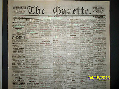 Newspaper - The Gazette - Death Of Lord  Beaconsfield   1881