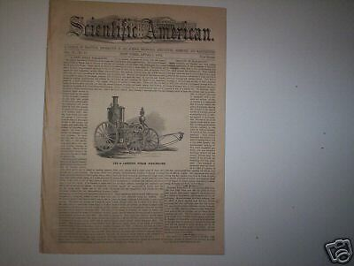 Scientific American  - Larned's Fire Engine  1860