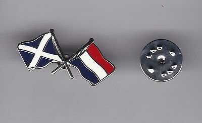 Scotland and The Netherlands ( Flags ) - lapel badge butterfly fitting