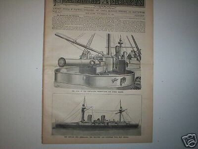 Scientific American    War Ship Esmeralda   1884