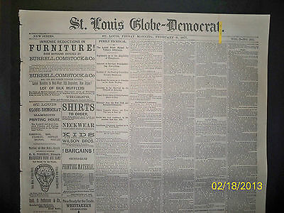 Newspaper - St Louis Globe Democrat - Life And Death Of Sarah Peter  1877