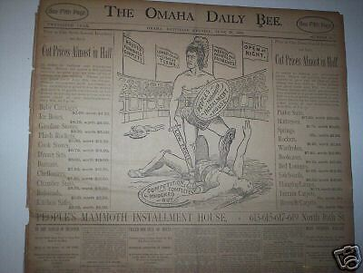 Dixon The Boxer / Statehood Of Wyoming - Newspaper 1890