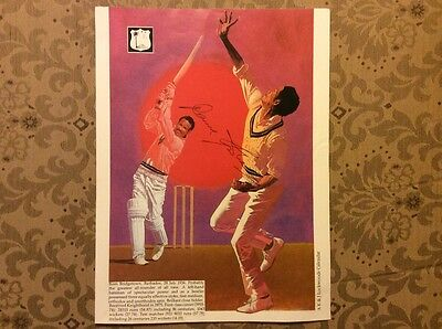 Garry Sobers West Indies cricket signed