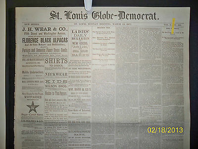 Newspaper - St Louis Globe Democrat - John D. Lee / Deadwood  1877