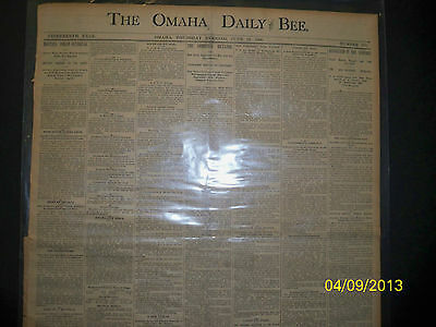 Omaha Daily Bee - Montana Indians Outbreak - Cheyenne Indians  1890