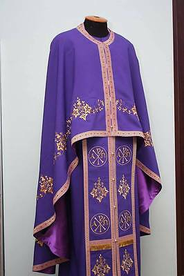 Greek Style Embroidered Orthodox Priest Vestment