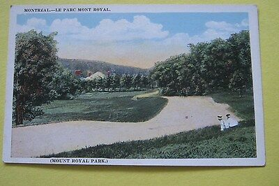 Vintage Postcard  Mount Royal Park Montreal - Le Parc Mont Royal