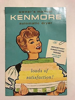1958 Mid Century Kenmore Automatic Dryer Manual