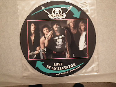 """Areosmith 12""""ltd Ed. Picture Disc Love In An Elavator 1989 On Geffin"""