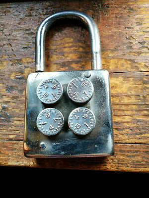 Vintage Russian All Metal  Combination Padlock Working