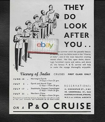 P & O Cruise Lines Rms Viceroy Of India Cruise They Do Look After You Ad