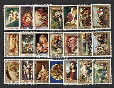 Art  PAINTINGS Thematic STAMP Collection USED HUNGARY Ref:TS136