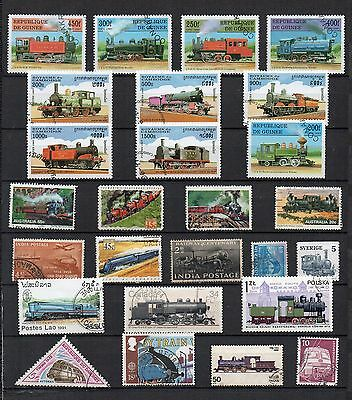 TRAINS RAILWAYS Thematic STAMP COLLECTION  Used REF:TS136