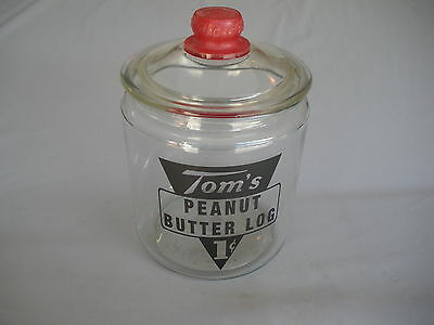 Tom's Peanuts Store Jar[  Decal]  Lance Gordons Cracker   Lowest On Ebay