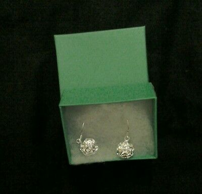 New ladies 925 sterling silver rose drop earrings with gift box