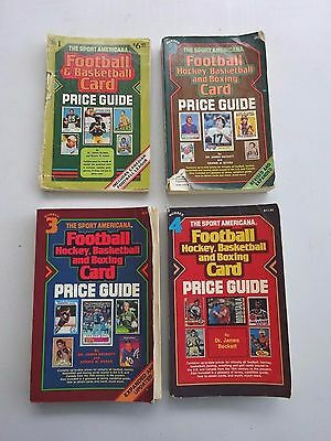 1980 to 1983 First 4 Beckett Yearly Price guides, Football, Basketball, Hockey,