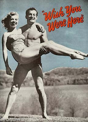 """Jack Cassidy """"WISH YOU WERE HERE"""" Harold Rome / Phyllis Newman 1952 Program"""
